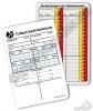 Játékvezető jegyzetlap - labdarúgás, 100 darabos csomag
